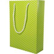 Sacola Presente - 8 Unid - Verde Pistache E Branco