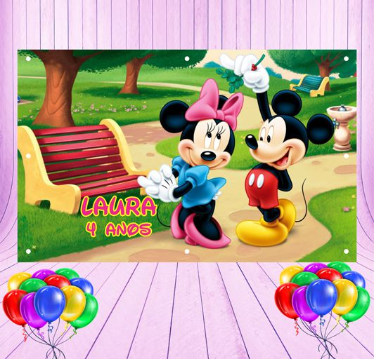 Painel de Festa Mickey e Minnie - Mod 17