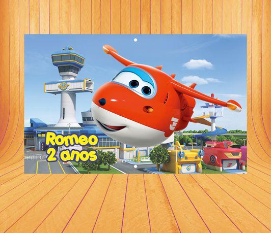 Painel de Festa Super Wings- Mod 1