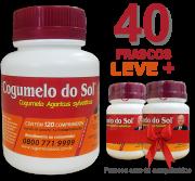 Cogumelo do Sol®  Agaricus sylvaticus - 40 FRASCOS  - Ganhe 2 Frascos com 60 comprimidos