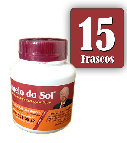 Cogumelo do Sol®  Agaricus sylvaticus - 15 FRASCOS