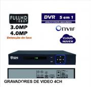 DVR 4 Canais Detecção Face FULL HD 1080P SC-9104 Semi