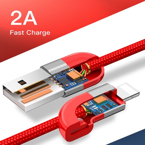 Kit 2 Cabos USB Iphone Lightning Couple Magnetic Cable Baseus 100Cm 2a