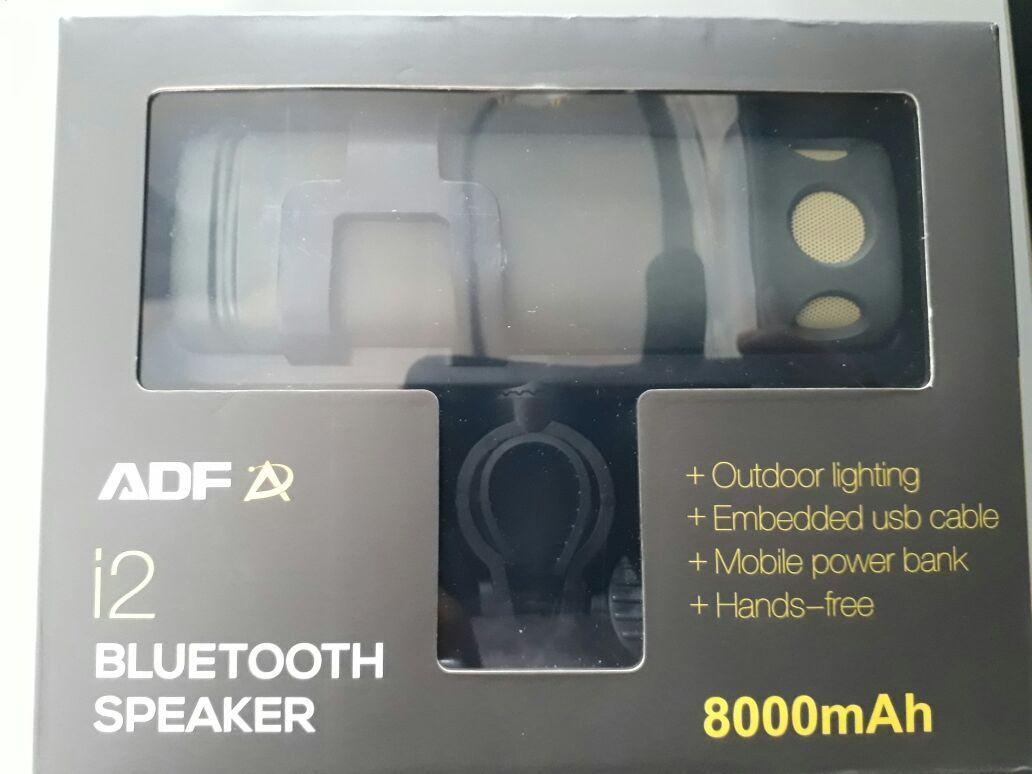 Caixa de Som Bluetooth Lanterna e Suporte de Guidon