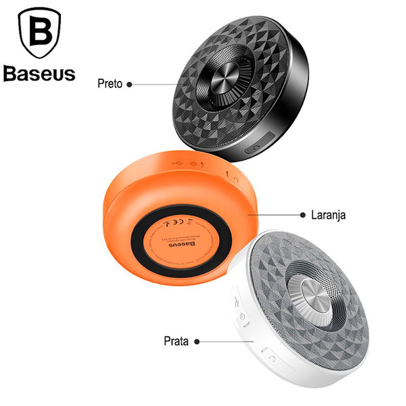 Caixa som 360 Stereo Bluetooth Baseus encok E03   - Wtech vendas e Assistência técnica