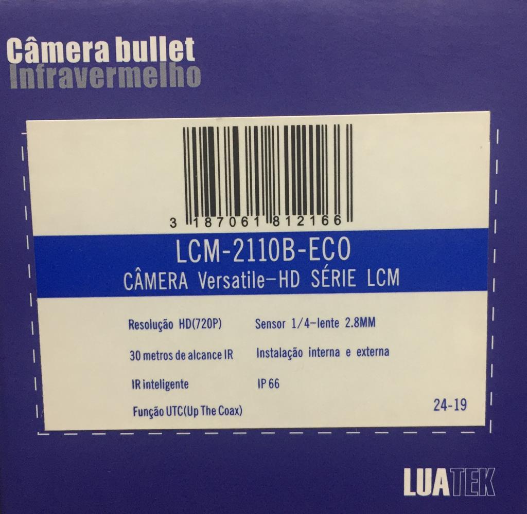 Câmera Hd 720p infra 30 Metros 4 in 1 Luatek