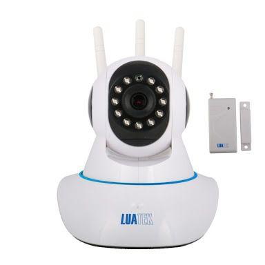 Camera Hd Ip Sem Fio Wifi 3 Antenas Sensor Alarme Luatek LKW 1510  - Wtech vendas e Assistência técnica