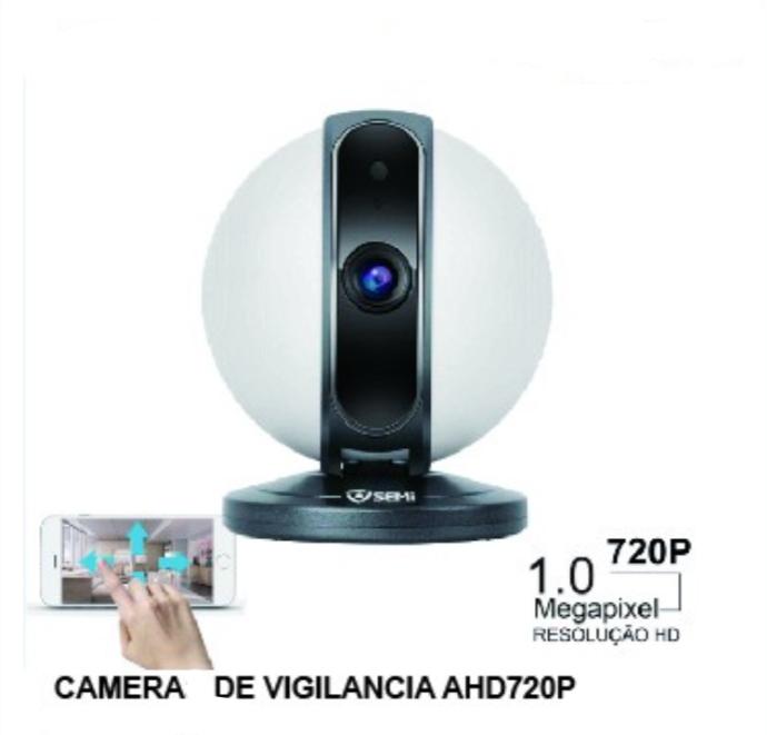 Câmera HD Wi-FI com áudio e rotação 355 graus