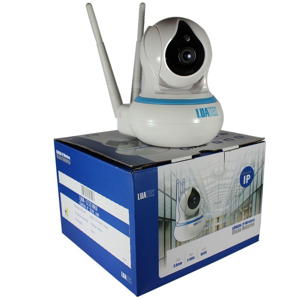 Câmera Ip Wiresless Hd 720p Noturna Gravação Nuvem Luatek  Lkw-1210  - Wtech vendas e Assistência técnica