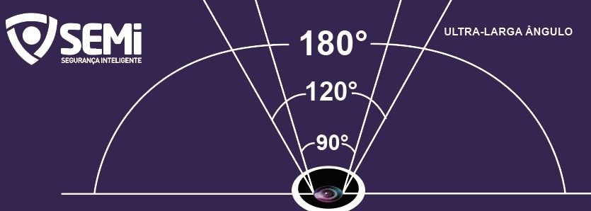 Câmera Panoramica Wifi 180° Semi
