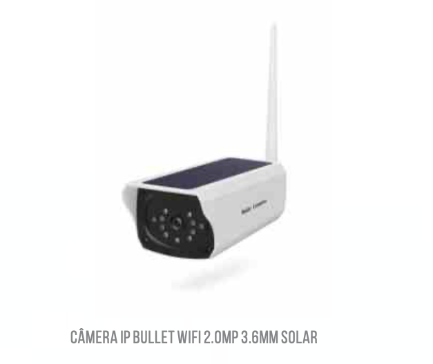 Camera Wifi Solar Externa 1080p Blindada LKWS120 Luatek