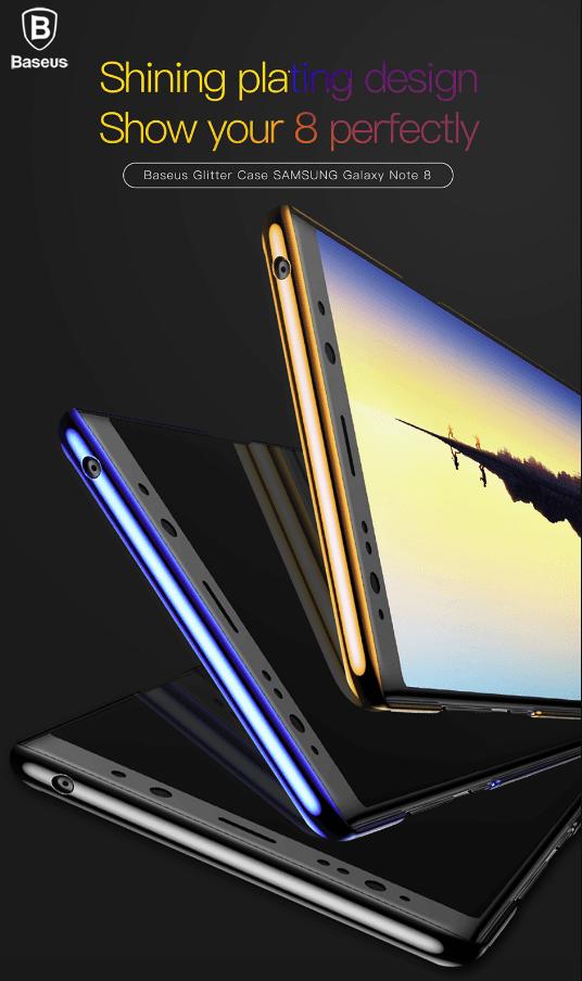 Capa Galaxy Note 8 Glitter Case Super Slim Policarbonato Baseus