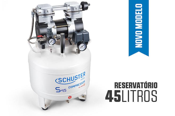 Compressor Odontológico S45 G2 Silencioso Schuster  - Wtech vendas e Assistência técnica