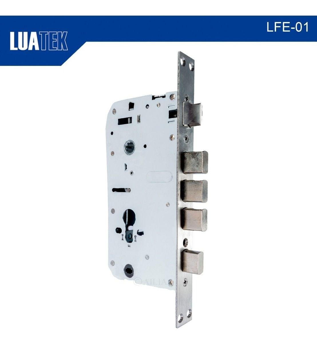 Fechadura Eletrônica Digital Biometria Controle De Acesso Luatek