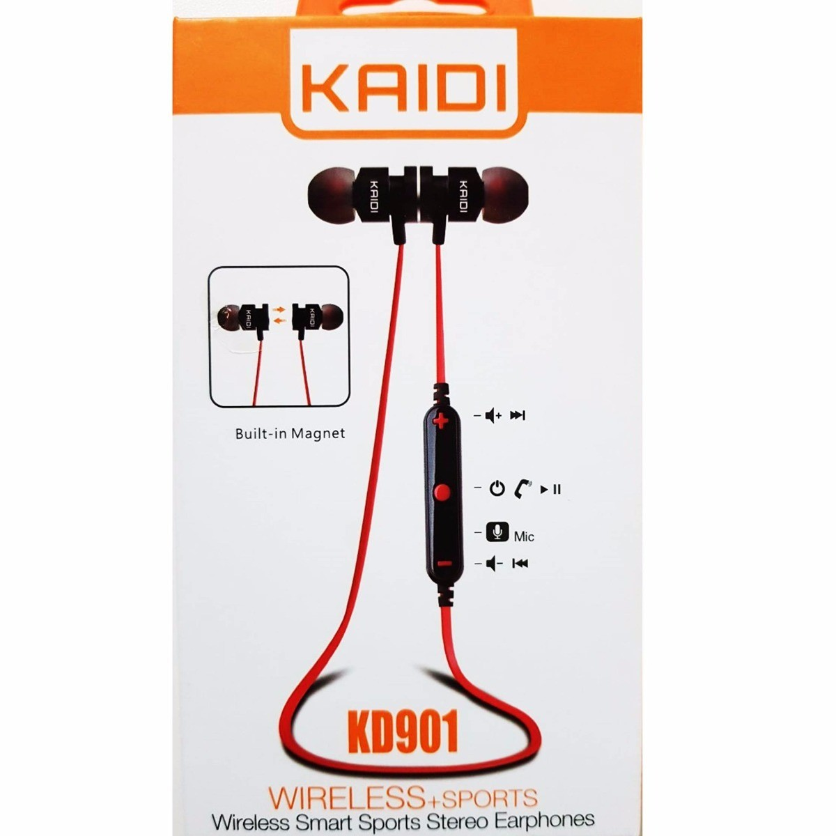 Fone De Ouvido Bluetooth Sports Kaidi Kd 901 Microfone Ímã