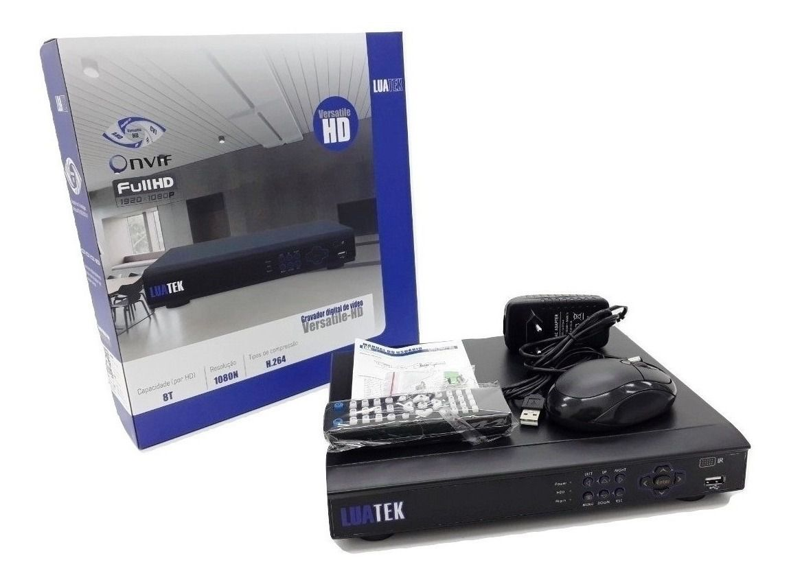 Gravador digital de vídeo (DVR) 8 Canais 5 EM 1 LKD308 Luatek