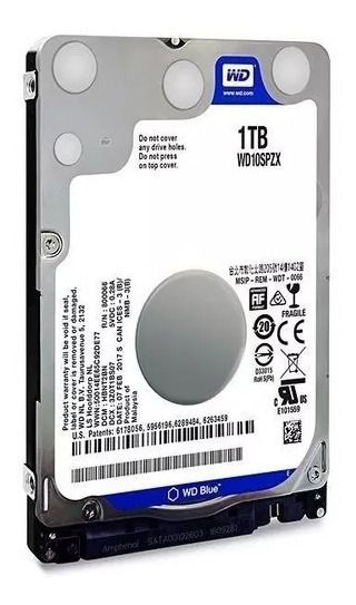 HD 1 TB para Notebook Western Digital - 8MB Cache - 5400RPM - WD10SPZX
