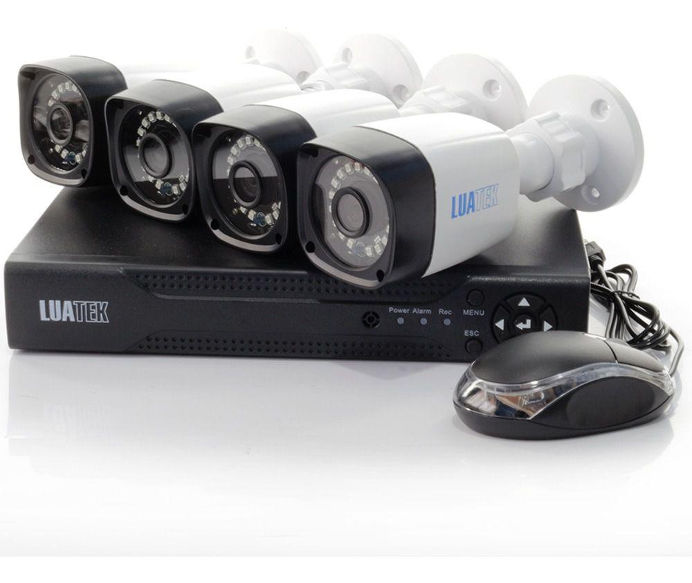 Kit De Câmera De Segurança Dvr Com 4 Cameras Cabos e fonte Luatek