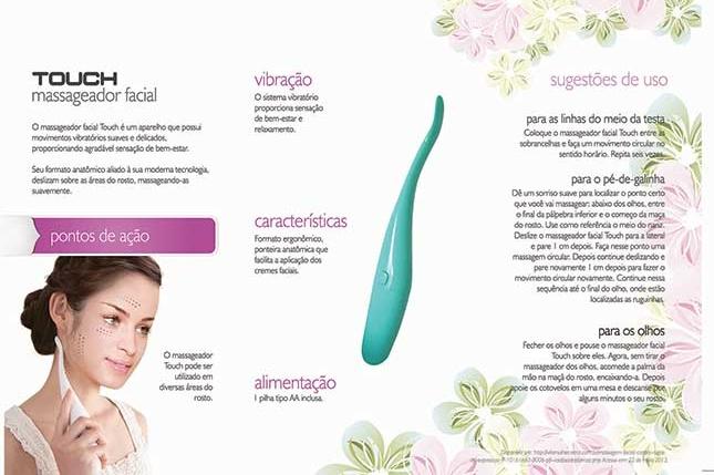Massageador Facial Touch Fisiomedic