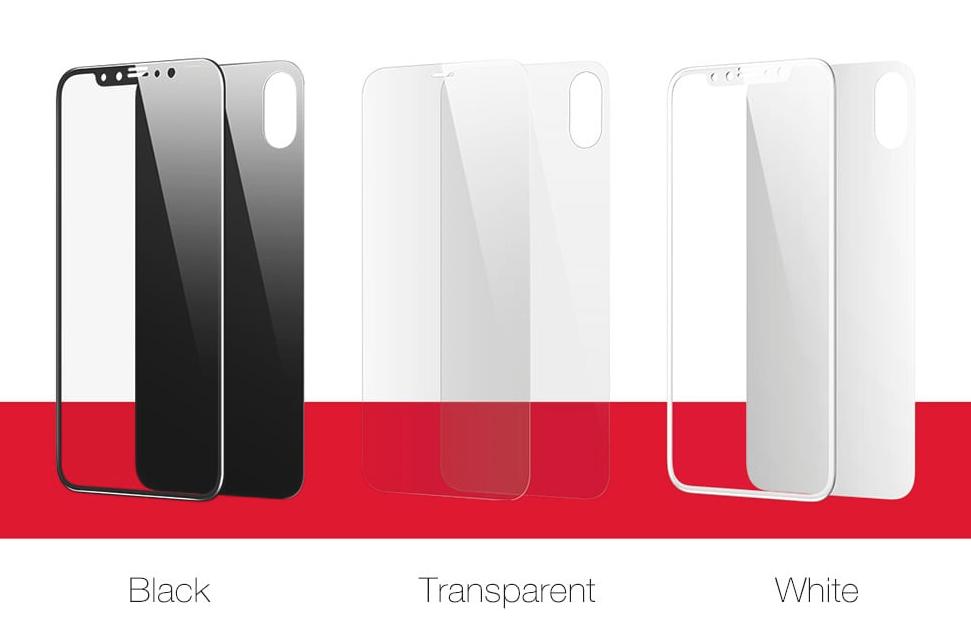 Pelicula 3D 0.2mm Iphone X Frontal e Traseira Vidro Temperado Alta Definição Baseus