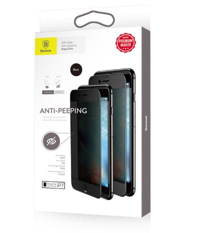 Pelicula 0,23mm Iphone 7 Vidro Temperado Privacidade Baseus  - Wtech vendas e Assistência técnica