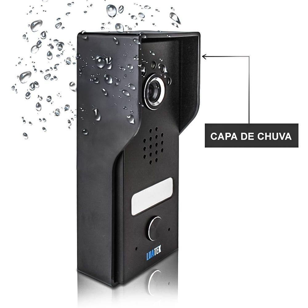 Video Porteiro Eletrônico Câmera Colorida Tela Touch 7 polegadas Luatek