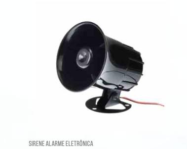 Sirene ALARME Eletrônica  120 db LKS212 Luatek