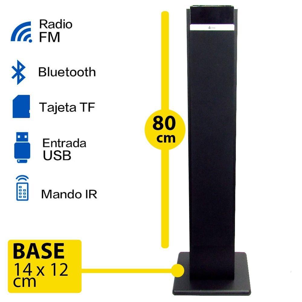 Soundbar VM-X1100  Caixa Som Torre Bluetooth Tv Pc Usb Auxiliar 70w E7