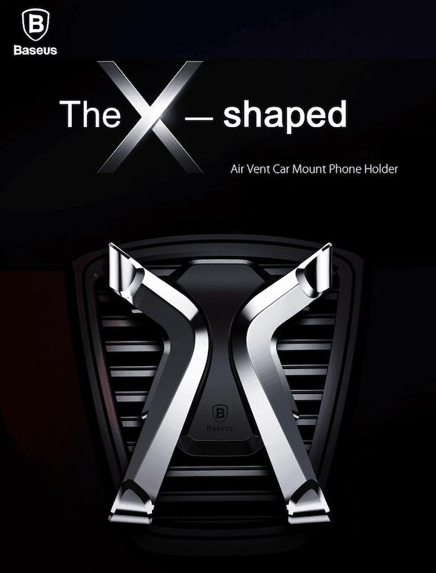 Suporte Veicular Duto de Ar de X-Shaped Para Celular Baseus  - Wtech vendas e Assistência técnica