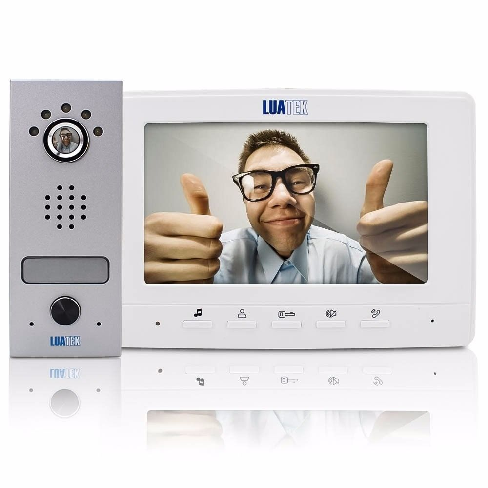 Video Porteiro Eletronico Fechadura Condominio Casa Câmera Tela 7  - Wtech vendas e Assistência técnica