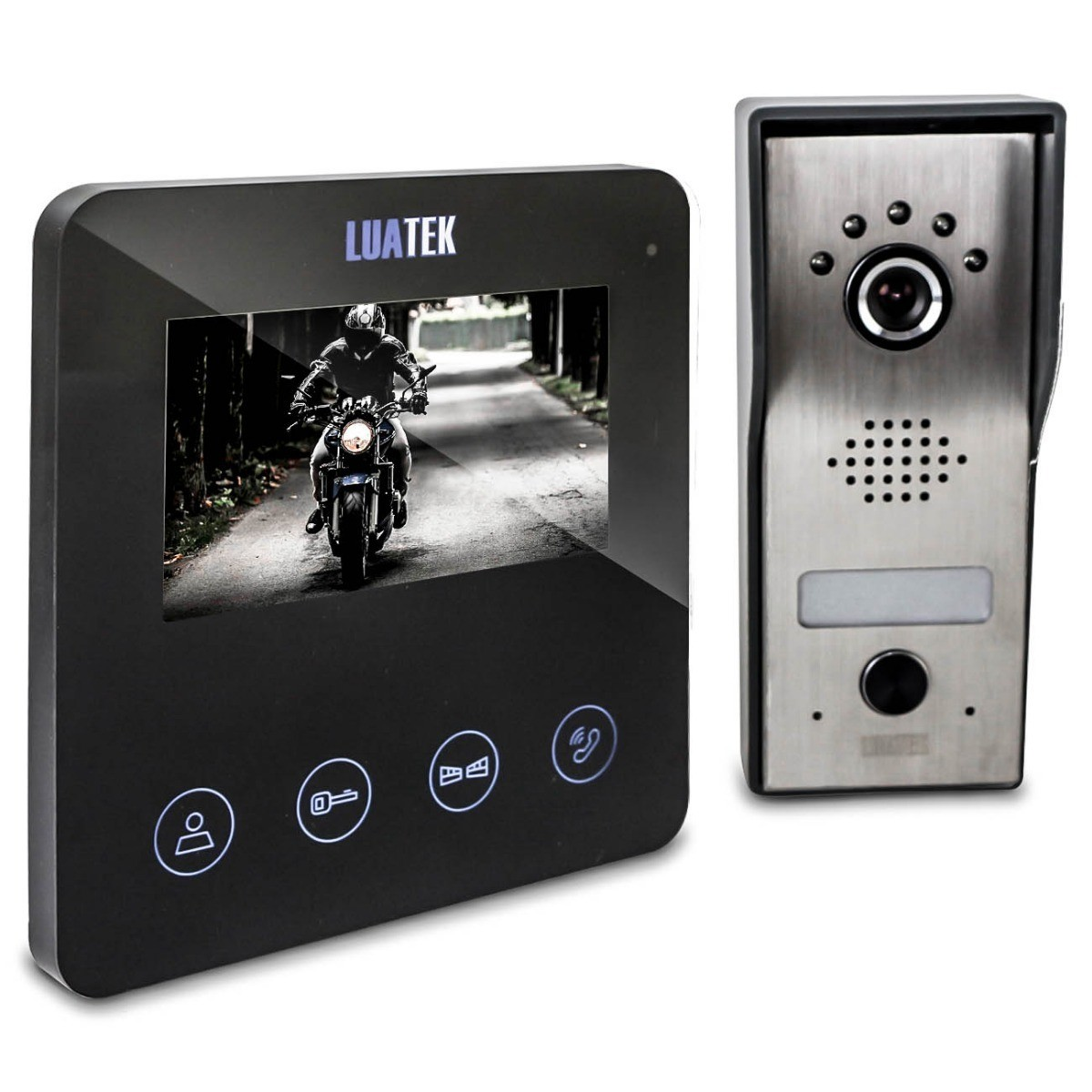 Video Porteiro Eletrônico Interfone 4.3 Touch Visão Noturna Luatek  - Wtech vendas e Assistência técnica