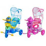 Triciclo Infantil C/capota 2x1,música/luzes! Vira Gangorra Promoção