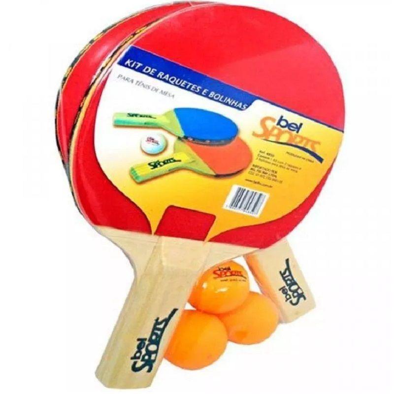 3467d1ad7 Kit 2 Raquetes 3 Bolinhas Tênis De Mesa Ping Pong - Supermania
