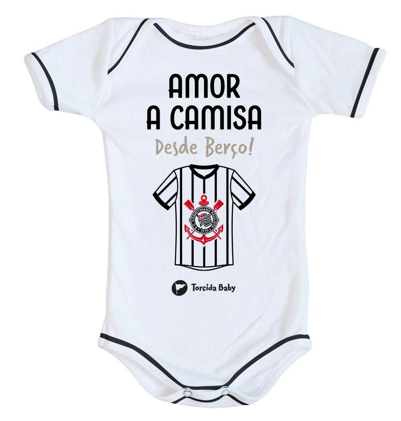 1e85e75284 Body Corinthians - Amor a Camisa desde Berço - Torcida Baby Oficial ...
