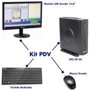 Kit PDV II Sweda - CPU SP30 + Mouse + Teclado Reduzido + Monitor LED