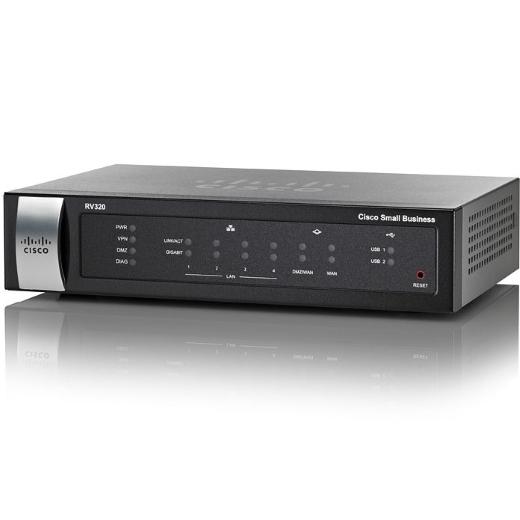 Roteador Cisco RV320 - Dual Gigabit WAN VPN Router