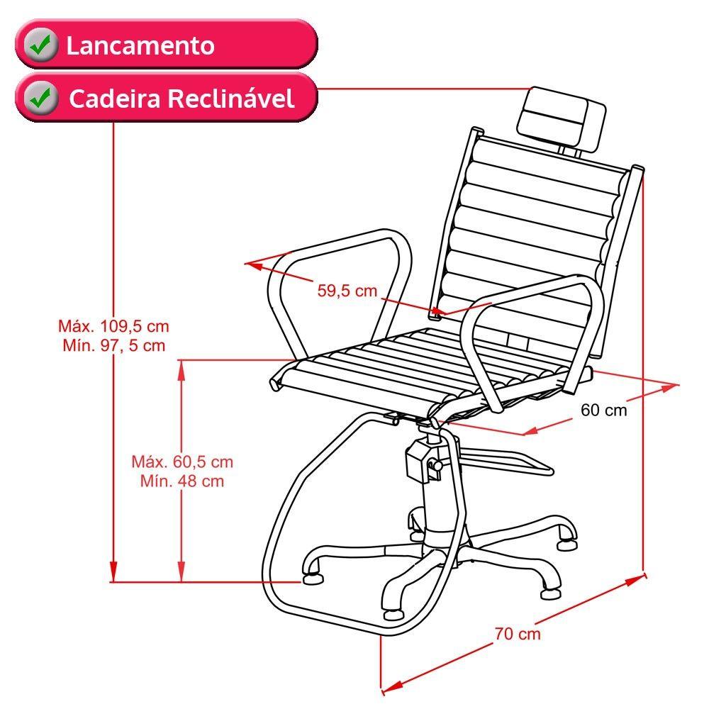 Cadeira Atenas Fixa + Cadeira Atenas Reclinável + Lavatório Atenas - Kixiki
