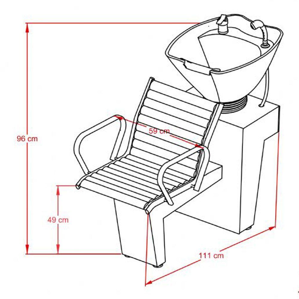 Cadeira Atenas Fixa + Lavatório Atenas - Kixiki