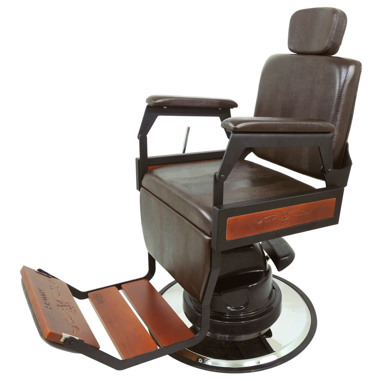 Cadeira De Barbeiro Hawk Reclinável Lisa - Kixiki