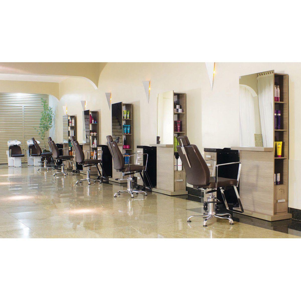 Cadeira Para Salão Croma - Encosto Reclinável - Kixiki
