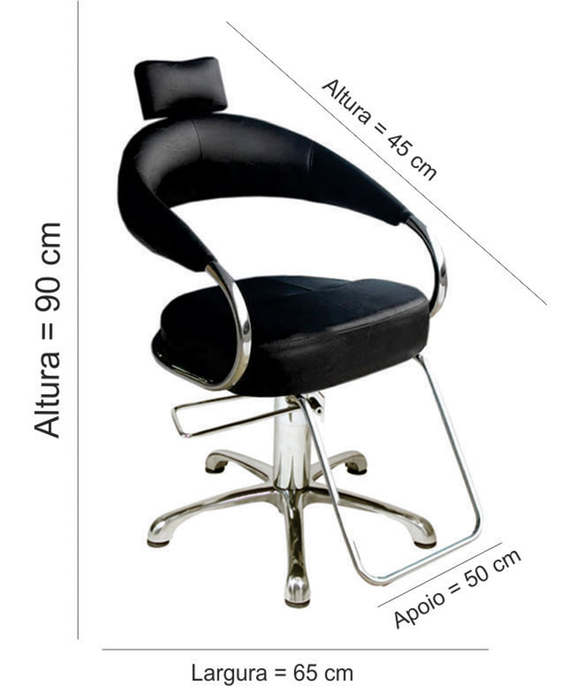 Cadeira Poltrona Hidráulica Futurama - Base Alumínio - BF