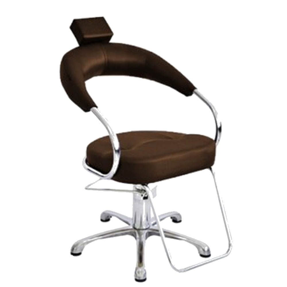 Cadeira Poltrona Hidraulica Futurama Café (Base Aluminio Escovado) + Star Italiano Bullon Marrom