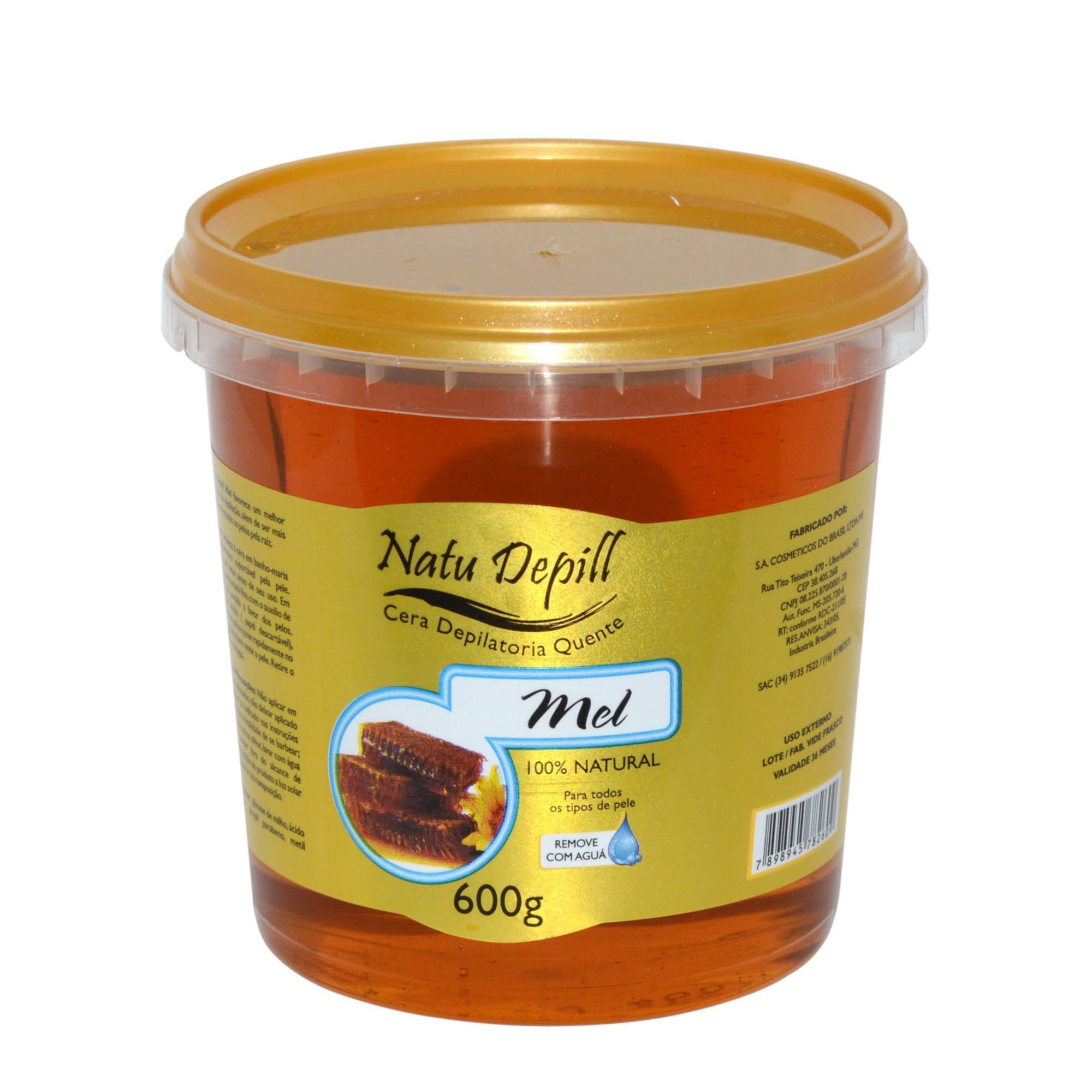 Cera Depilatória Quente Natu Depill 600g Natural Mel