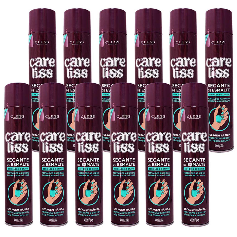 Combo Spray Secante De Esmalte Care Liss - Cless Cravo - 12 Unidades
