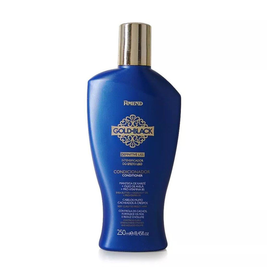Condicionador Intensificador Do Efeito Liso Gold Black 250ml