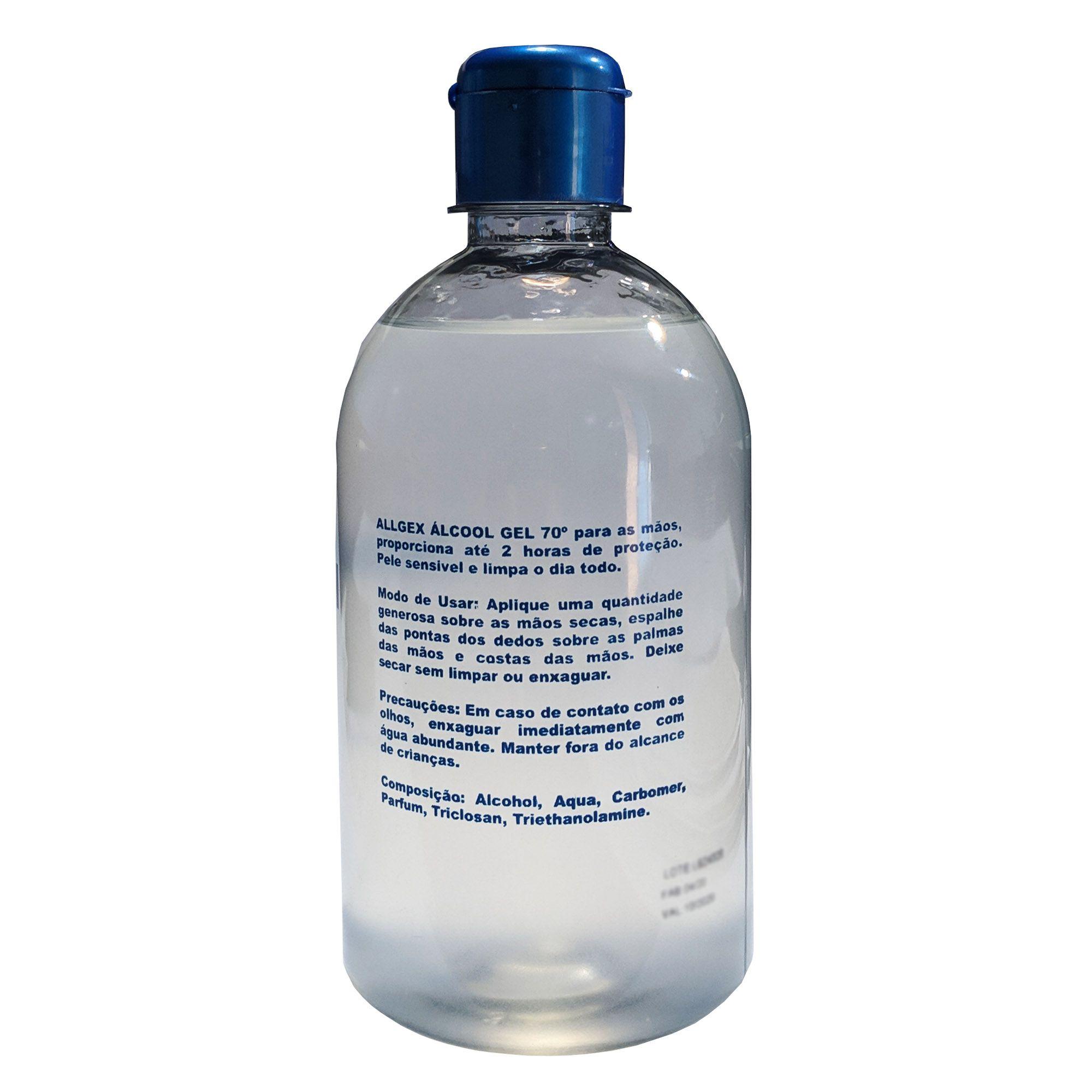 Álcool em Gel 70% Higienizador de Mãos - 6 Unidades - ALLGEX 440g