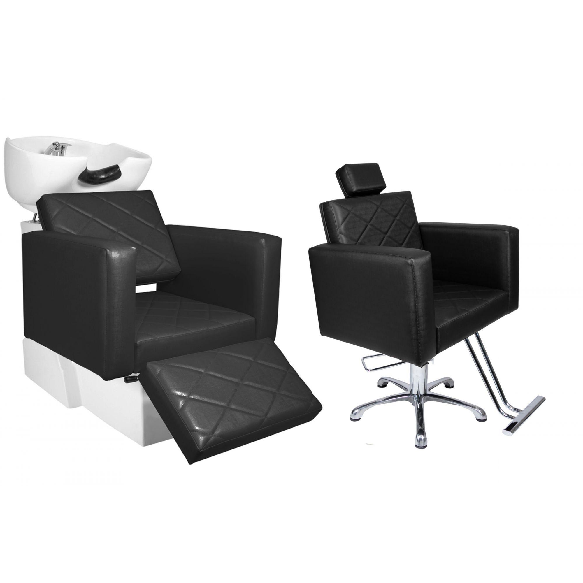 KIT Evidence -  1 Cadeira Fixa + 1 Lavatório Com Descanso