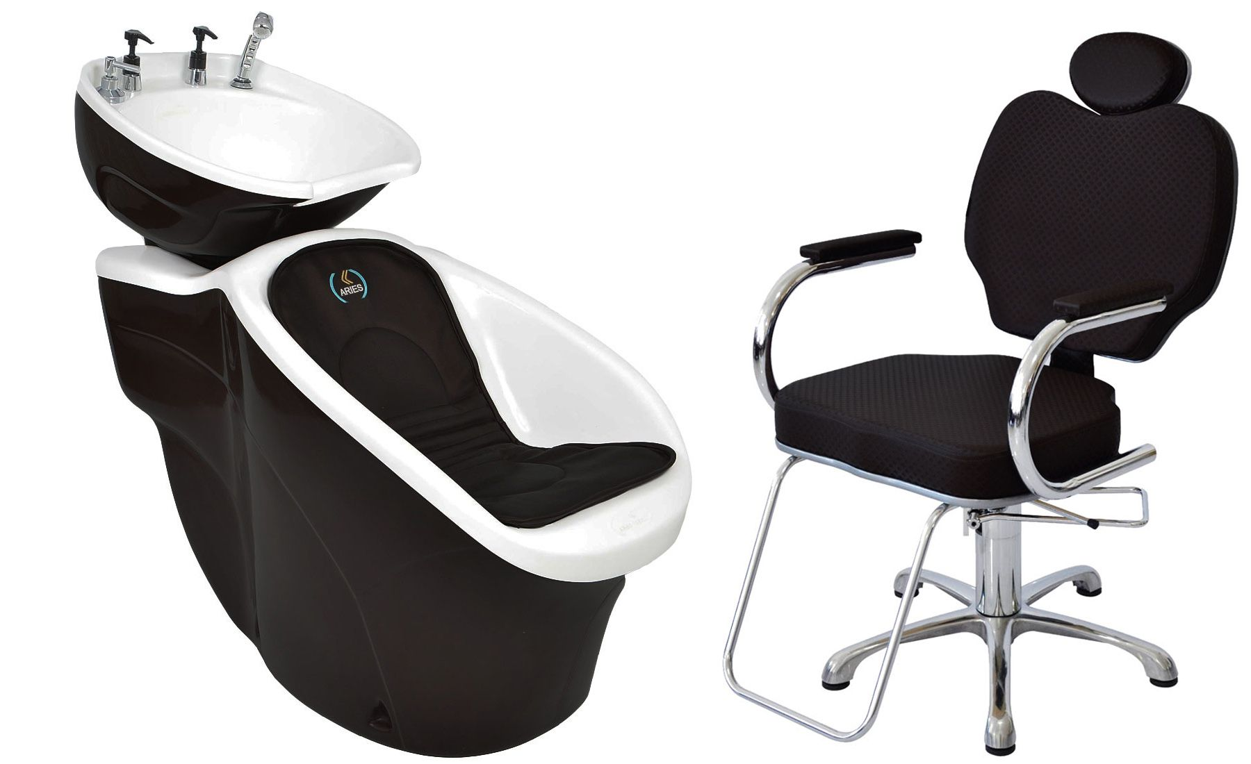 Lavatório Chic L-50 + Cadeira Hidráulica Gobbi Reclinável