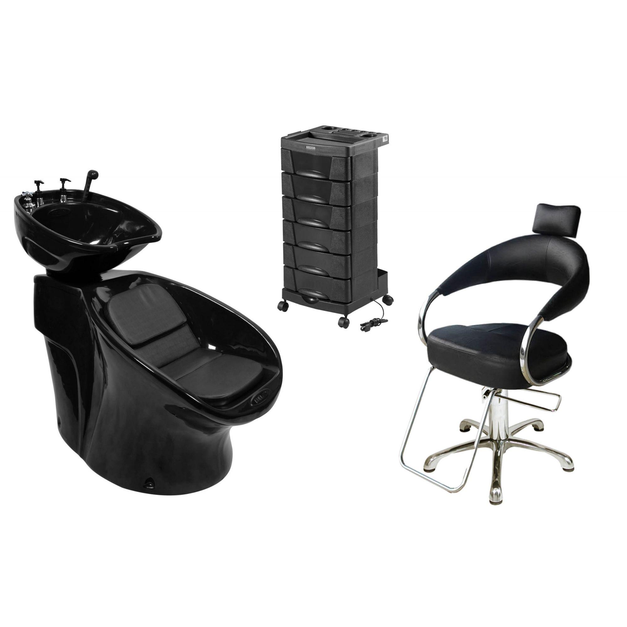 Lavatório Neon Shampoo + Cadeira Hidráulica Futurama + Beauty