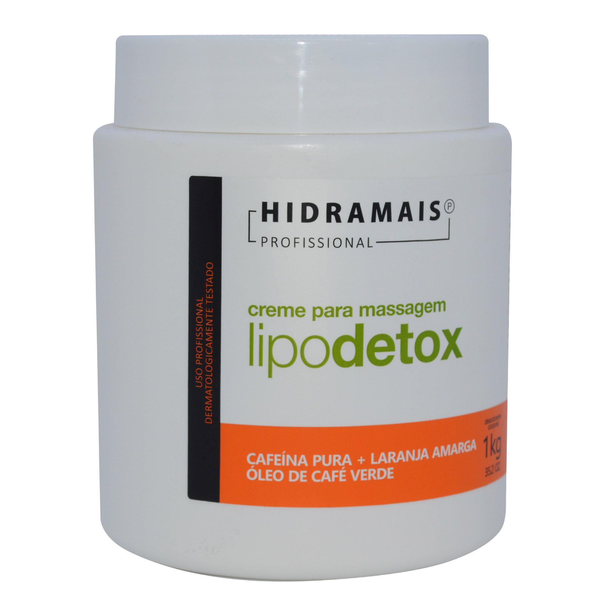 Creme para massagem LipoDetox 1Kg - Hidramais